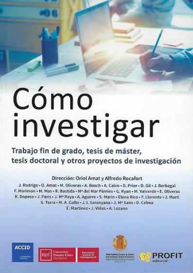 """portada libro """"Como Investigar"""" RAED ACCID UPF"""