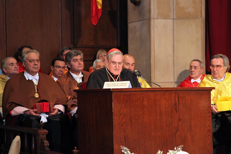 Acto de ingreso del Cardenal Lluis Martinez Sistach