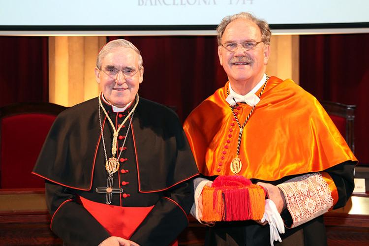 Cardenal Lluis Martínez Sistach y Alfredo Rocafort