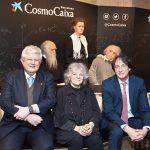 Conferencia Dra. Ada Yonath: Una nueva generación de antibióticos. José Ramón Calvo, Ada Yonath y Jordi Portabella