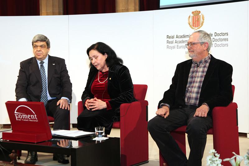 Dr. Javier Aranceta, Dra. Maria Àngels Calvo y Dr. Miquel Moretó. Debat Aliments probiòtics i prebiòtics