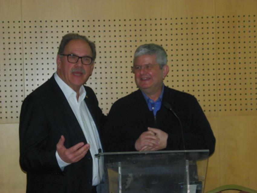 Alfredo Rocafort y José Ramón Calvo en Vichy Catalán
