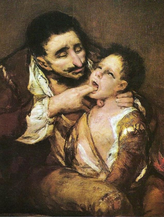 Francisco de Goya - El Garrotillo