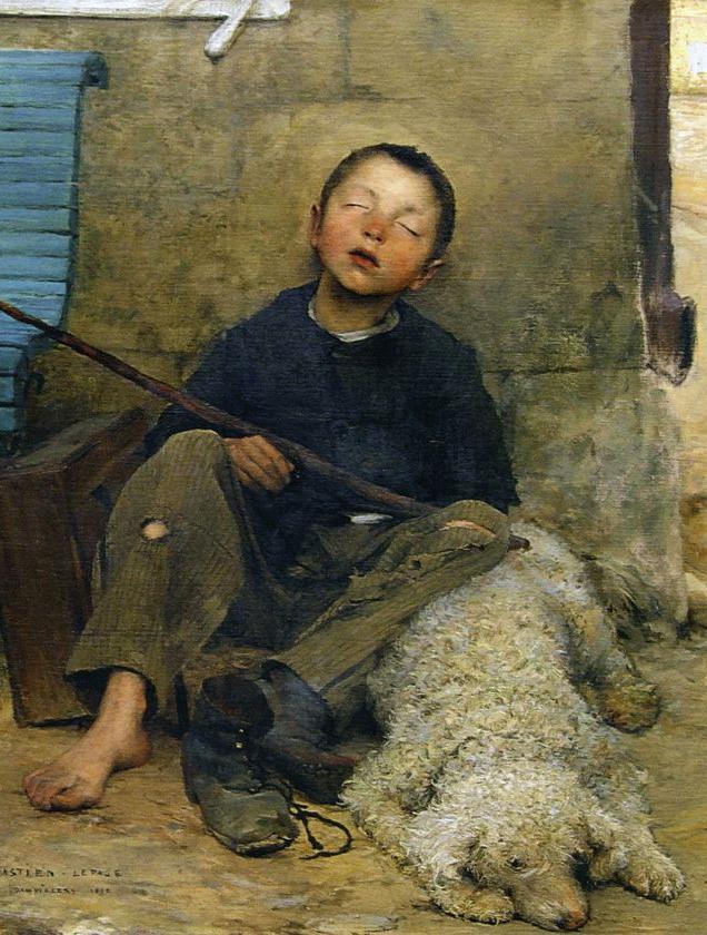"Jules Bastien Lepage, Pintor naturalista francés: ""El pequeño pastor"""
