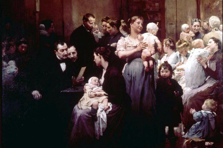 Jules Jean Geoffroy, pintor realista francés con temas de género.