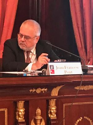 Joan Francesc Pont a l'acte institucional del Consolat del Mar