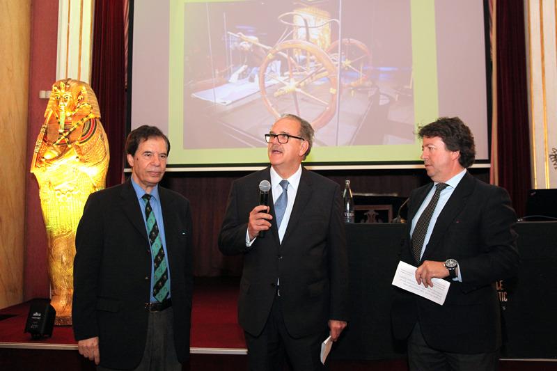 Sr. Hamdi Zaki - Dr. Alfredo Rocafort - Dr. Josep Fèlix Bentz - Conferencia sobre Tutankamón