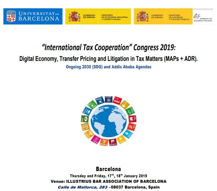 "Congreso internacional ""Tax Cooperation 2019"""