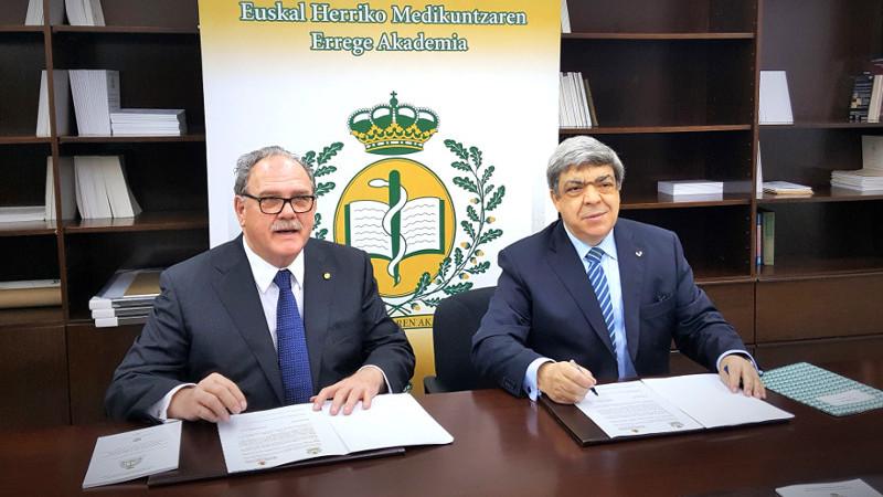Encuentro Cientifico RAED-RAMPV - firma del convenio.