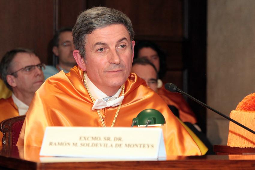 Acto de ingreso de Ramón María Soldevila de Monteys