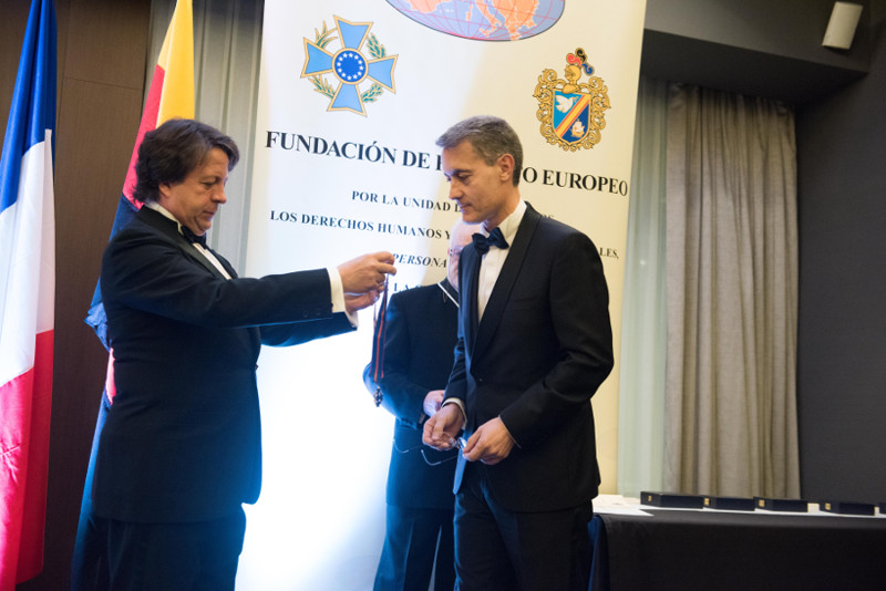 Cruz Europea de Oro a José Daniel Barquero