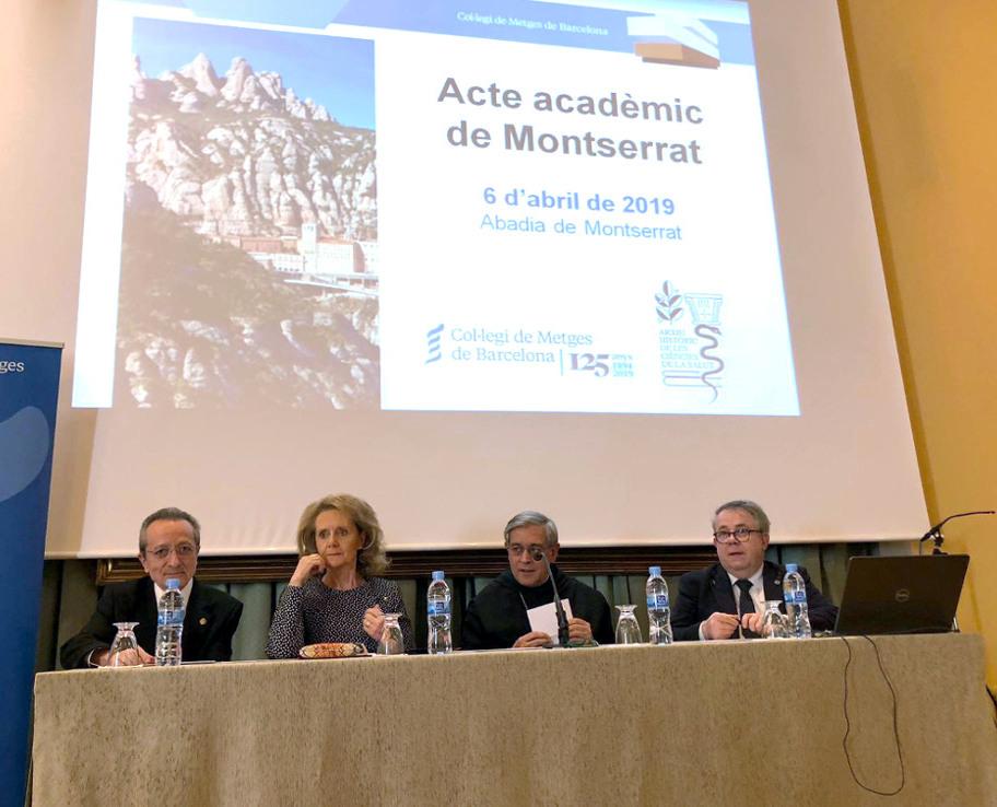 acto del Archivo Historico de Ciencias de la Salud en Montserrat