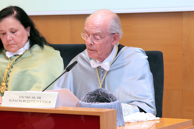 Video summary of admission as academician of Ignacio Buqueras