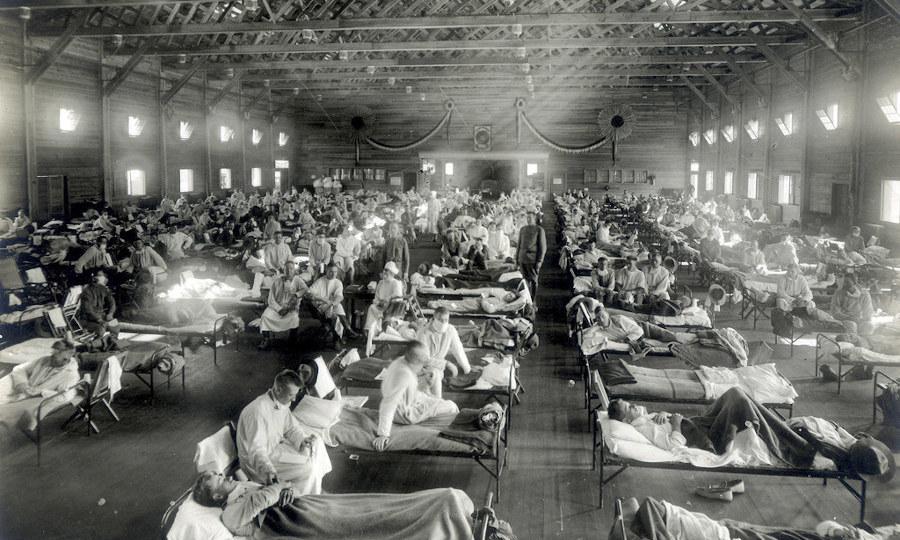 The Spanish flu of 1918, precedent of the coronavirus