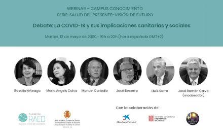 Debate «La COVID-19 y sus implicaciones sanitarias y sociales»