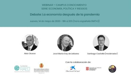"Debate ""The economy after the pandemic"""