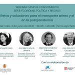 Webinar: Retos y soluciones para el transporte aéreo y el turismo en la postpandemia
