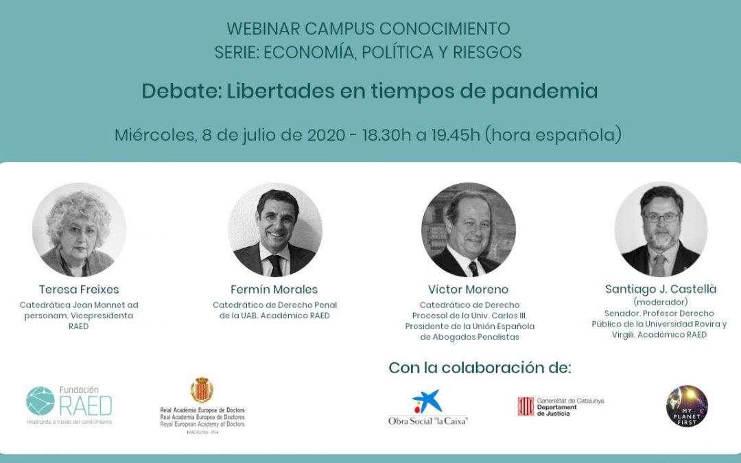 Debate/webinar: Libertades en tiempos de pandemia