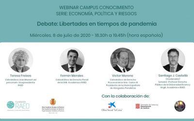 Debat/webinar: Llibertats en temps de pandèmia